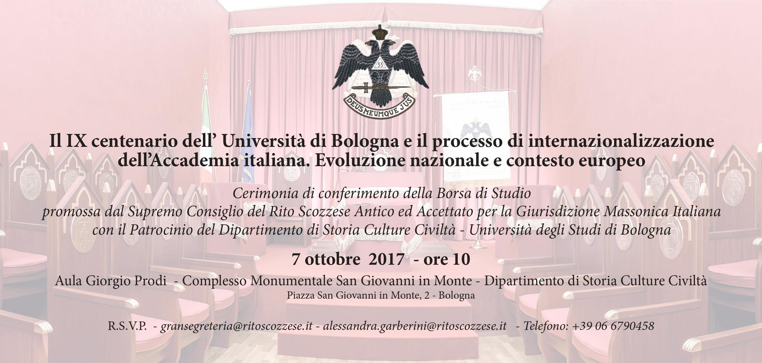 A Bologna la borsa del RSAA sulla Magna Charta Universitatum