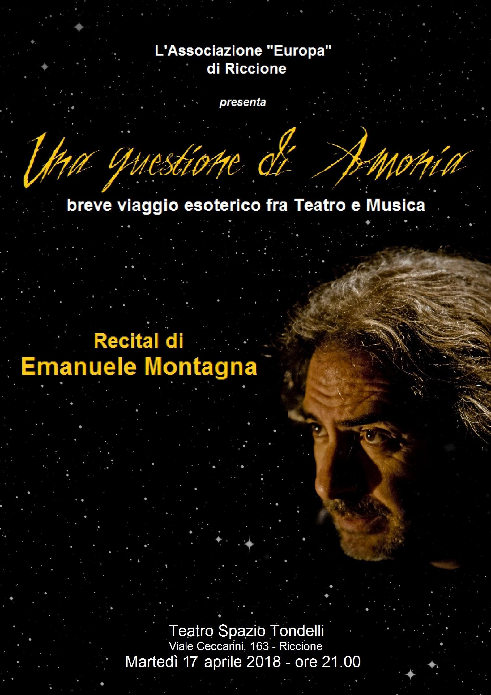 17/04. La Loggia Europa 765 di Riccione festeggia il compleanno con un recital