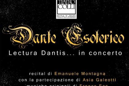 """2/12/2018 A Riccione l'attore e regista Emanuele Montagna omaggia Dante con una """"Lectura Dantis"""" in concerto"""