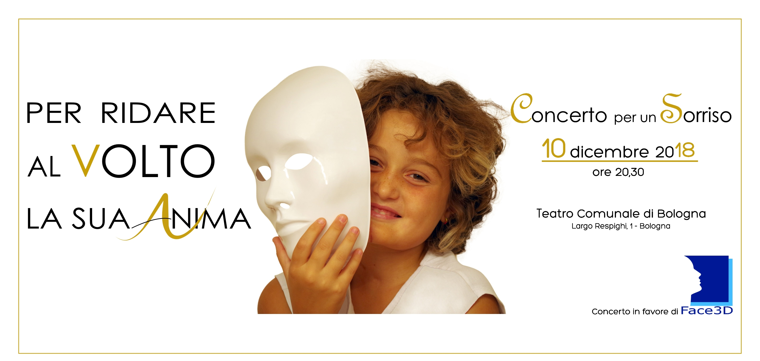 Concerto per un sorriso: Face3d ringrazia il Grande Oriente d'Italia e il Collegio. Le risposte del Gran Maestro e del Presidente di Collegio