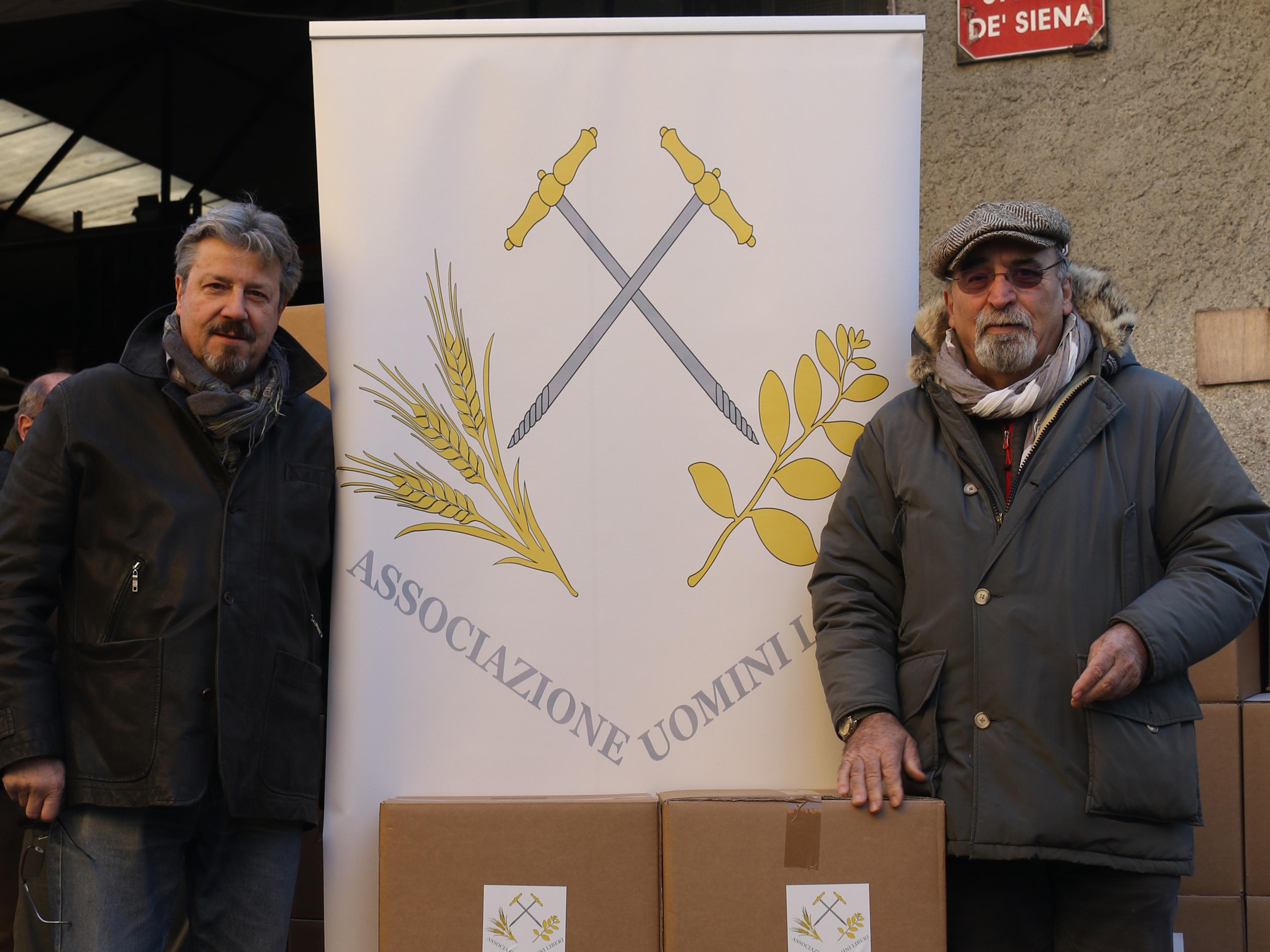 15/12/2018 Quaranta quintali di pacchi natalizi alle famiglie in difficoltà grazie alla R∴L∴ Fratellanza e Progresso all'Or∴ di Modena