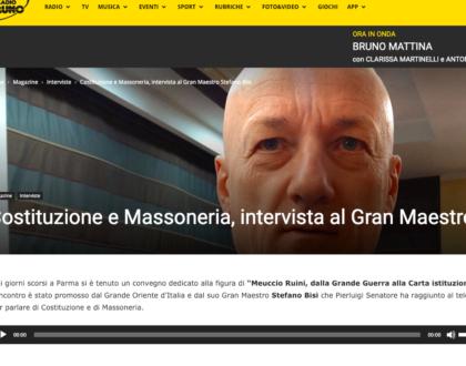 31/01/19 Radio Bruno intervista il Gran Maestro Stefano Bisi su Massoneria e Costituzione