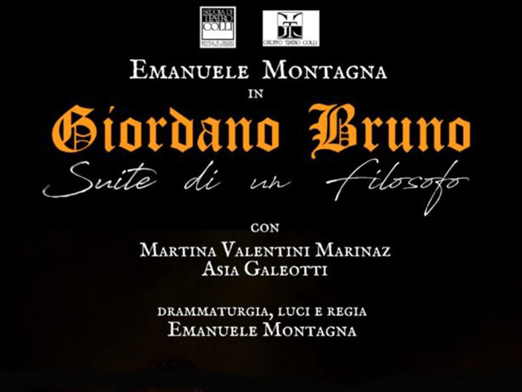 26-27/02/2019. Emanuele Montagna è Giordano Bruno al Teatro Dehon di Bologna